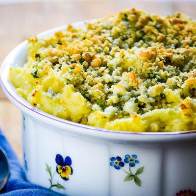Leftover Mashed Potato Soufflé with Blue Cheese Recipe