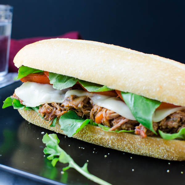 Italian Braised Pork Hoagie | Garlic + Zest