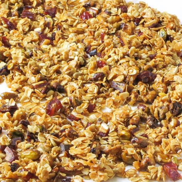 baked Crunchy Pistachio Date Granola