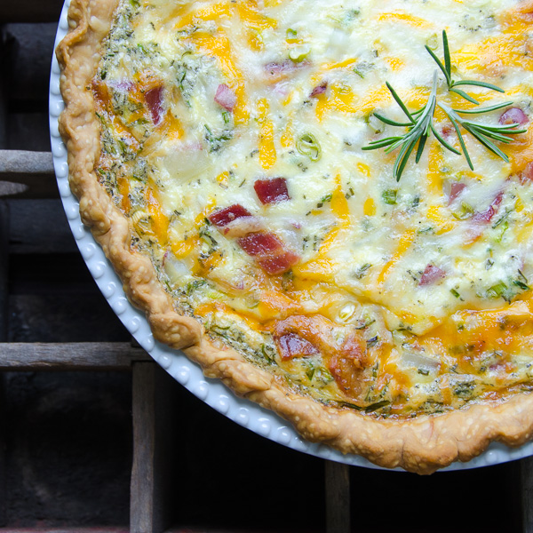 Loaded Baked Potato Quiche | Garlic + Zest