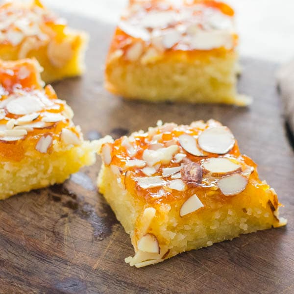 sliced apricot almond bars.