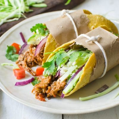 Leftover Braised Pork Tacos