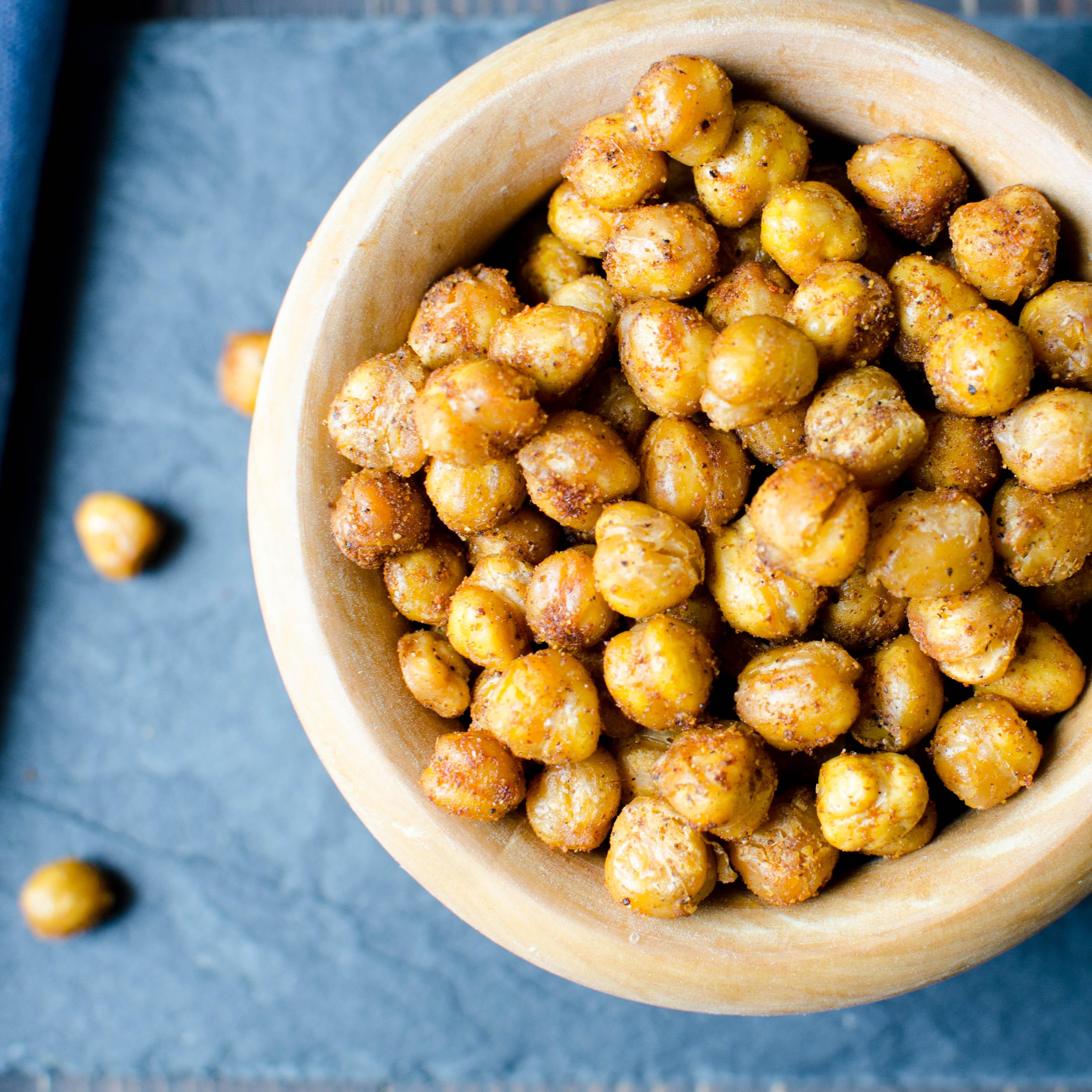 Crispy Spiced Chick Peas   Garlic + Zest
