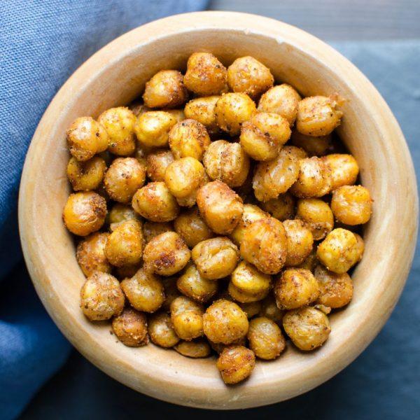 Crispy Spiced Chick Peas | Garlic + Zest
