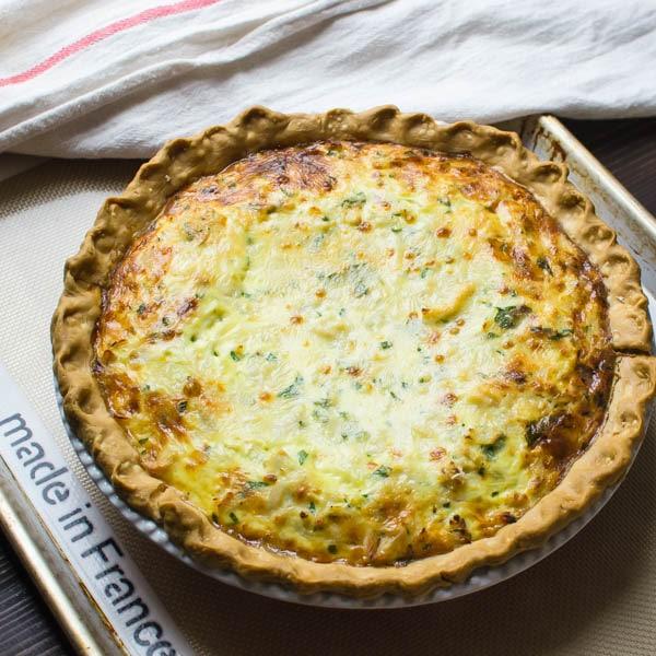 Rustic Crab Quiche | Garlic & Zest