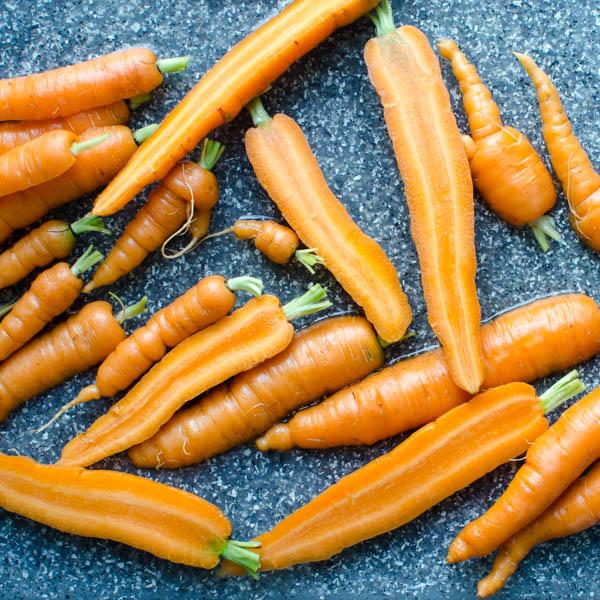 halving carrots