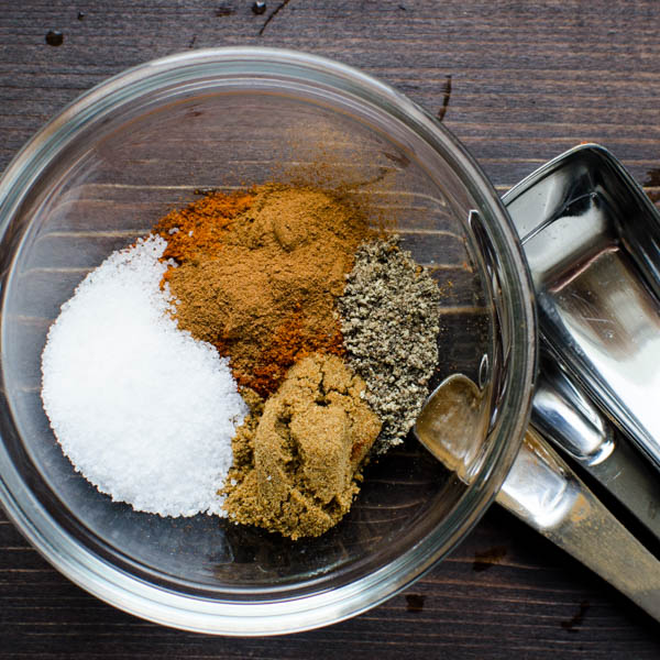 mixing a spice blend