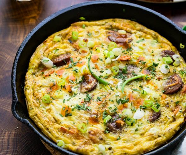 Cajun Andouille Sausage and Sweet Potato Frittata