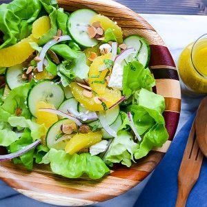 Simple Citrus Almond Salad