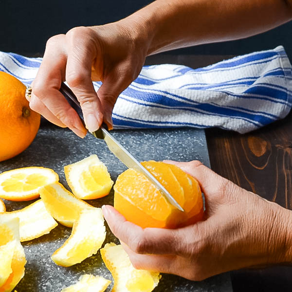 segmenting orange