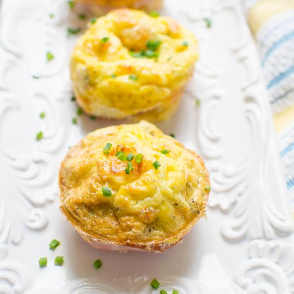 Bacon n' Egg Pepper Muffins | Garlic + Zest