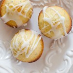 Glazed Lemon Poppyseed Mini Muffins | Garlic + Zest