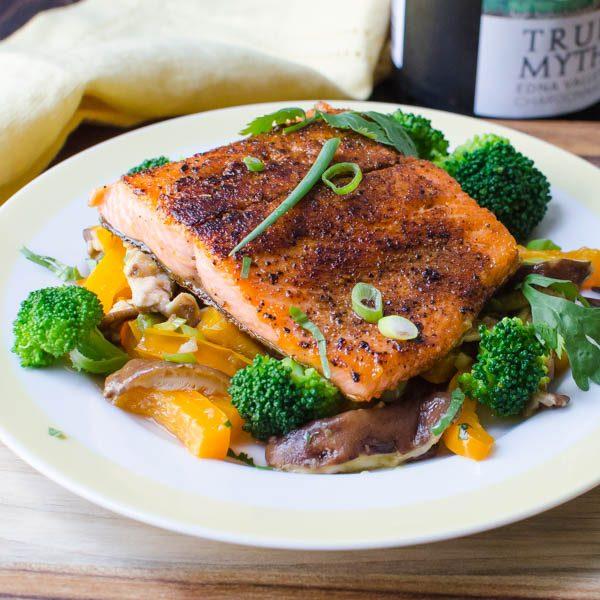 Spiced Pan-Seared Salmon | Garlic + Zest