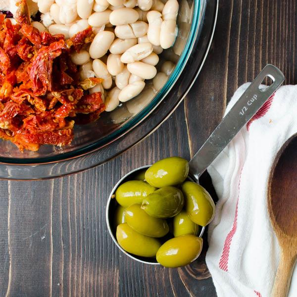 Tuna White Bean Puttanesca | Garlic + Zest