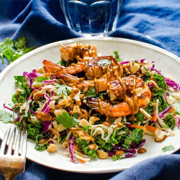 Sweet Heat Asian Barbecued Shrimp Salad
