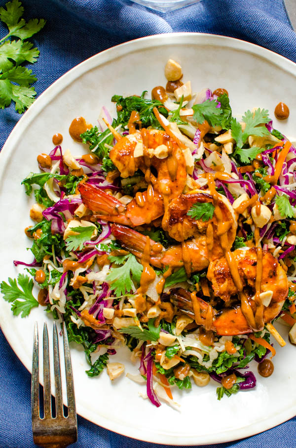 Asian Barbecued Shrimp Salad