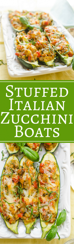 Looking for an easy stuffed zucchini recipe? Perfect for Spring and Summer dinners, these Stuffed Italian Zucchini Boats make the best stuffed zucchini recipe. #stuffedzucchini #zucchinirecipe #zucchiniboats #zucchiniboat #summersquash #stuffedsquash #howtomakezucchiniboats #canadianbacon #breadcrumbs #cheese #fennel #oregano #redpepperflakes #