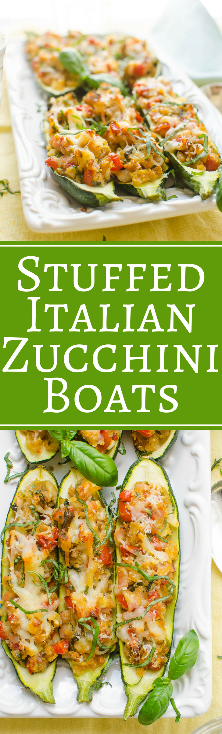 An easy recipe for Stuffed Zucchini Boats is a delicious side dish perfect for entertaining and holidays!