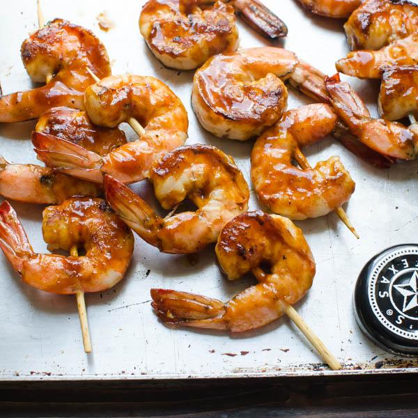 Sweet Heat Asian Barbecued Shrimp Salad | Garlic + Zest