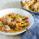 Cajun Meatballs and Pasta | Garlic + Zest