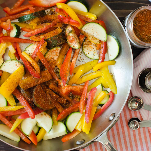 sauteing vegetables with spices