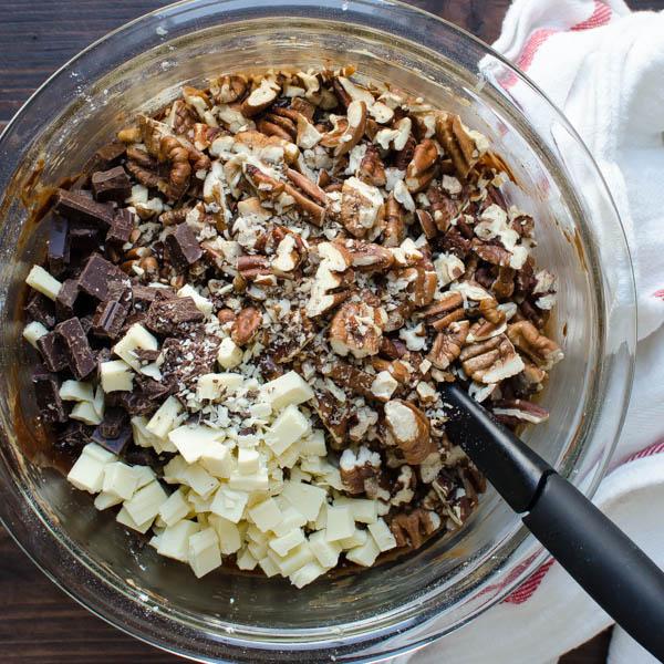 Chocolate Mocha Pecan Chunk Cookies   Garlic + Zest