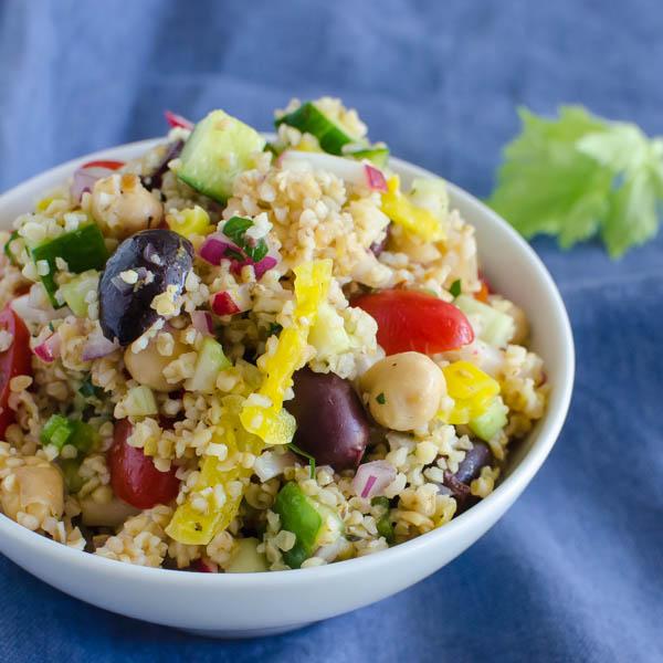Mediterranean Cracked Wheat Salad | Garlic + Zest