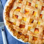 Fresh Peach Pie with Lattice Crust | Garlic + Zest