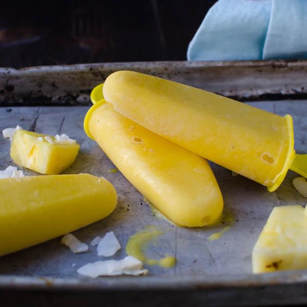 Mango Colada Popsicles | Garlic + Zest