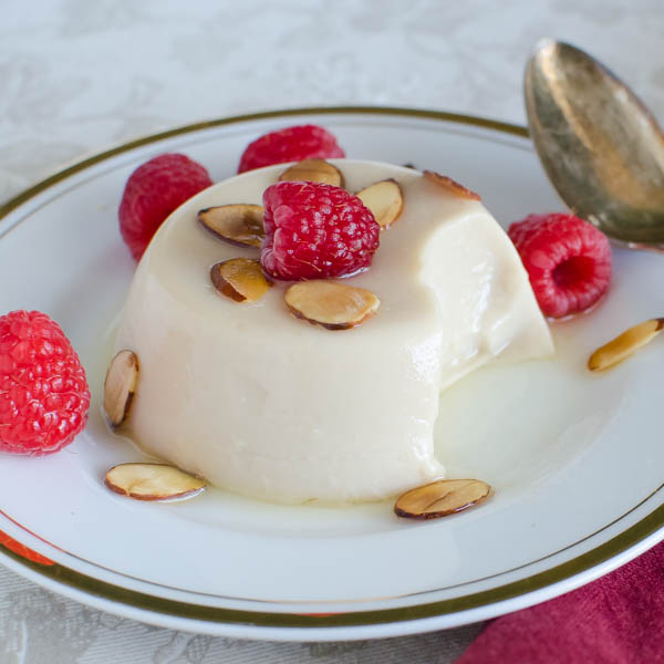 Toasted Almond Dream Panna Cotta | Garlic + Zest