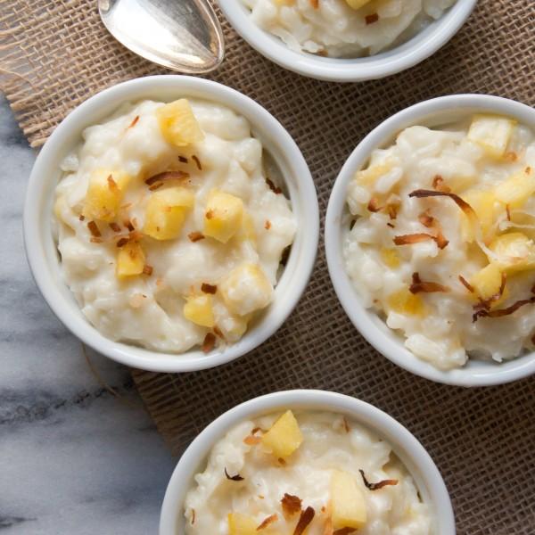 Pina Colada Rice Pudding | Garlic + Zest