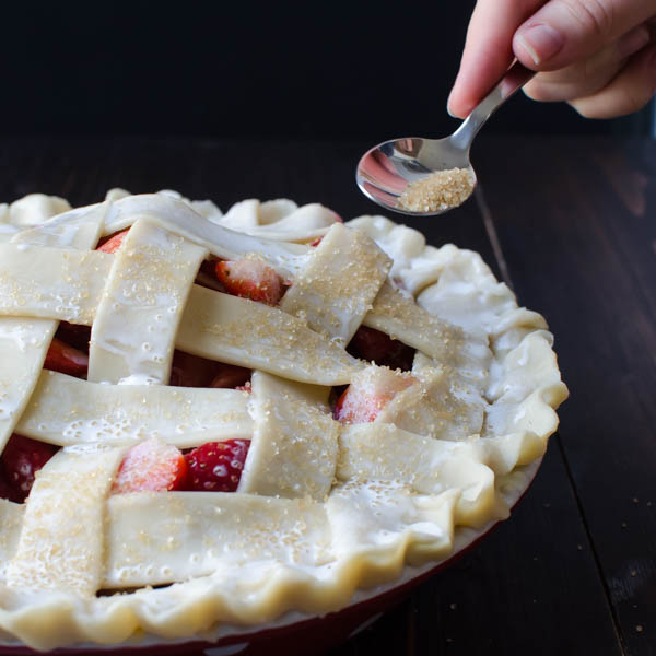 Old-Fashioned Strawberry Rhubarb Pie | Garlic + Zest