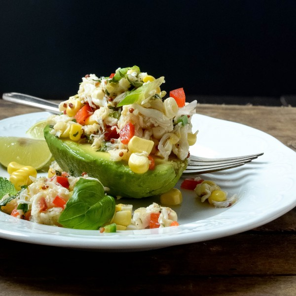 Sweet Corn and Crab Salad | Garlic + Zest