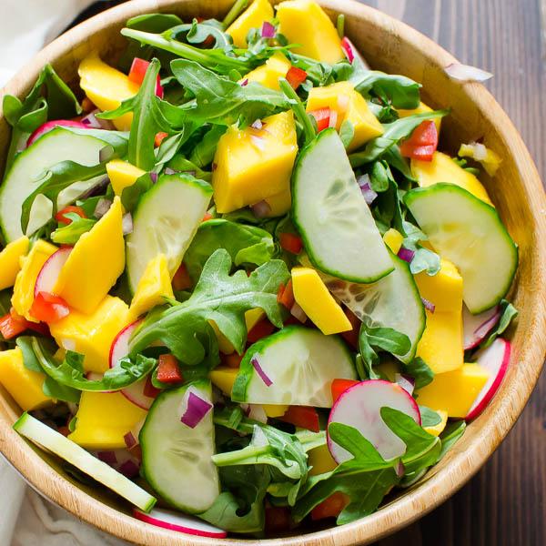 Key Lime Mango Crab Cake Salad | Garlic + Zest