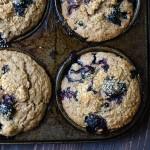 Cinnamon Blueberry Bran Muffins