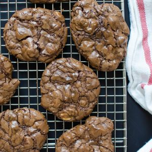 Chocolate Mocha Pecan Chunk Cookies | Garlic + Zest