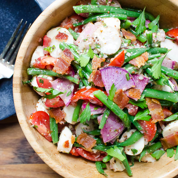 Tangy Green Bean Ciliegine Salad   Garlic + Zest