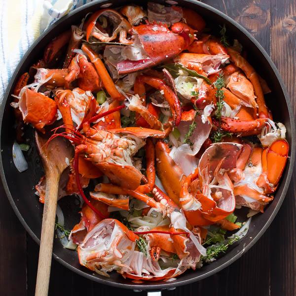 Homemade Lobster Stock   Garlic + Zest