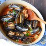 Wine and Garlic Mussels with Sausage   Garlic + Zest