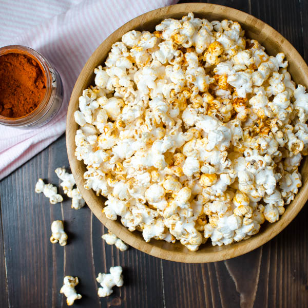 Black n' Bluesy Popcorn in a bowl