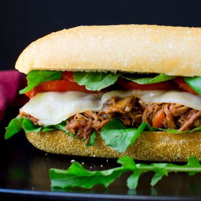 Braised Pork Italian Hoagie