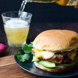 Sriracha Avocado Turkey Burgers