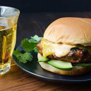 Sriracha Avocado Turkey Burgers | Garlic + Zest
