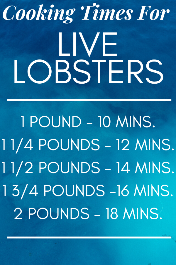 Lobster Cooking Times Chart