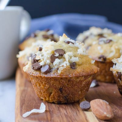 Crunchy Banana Chip Mini Muffins