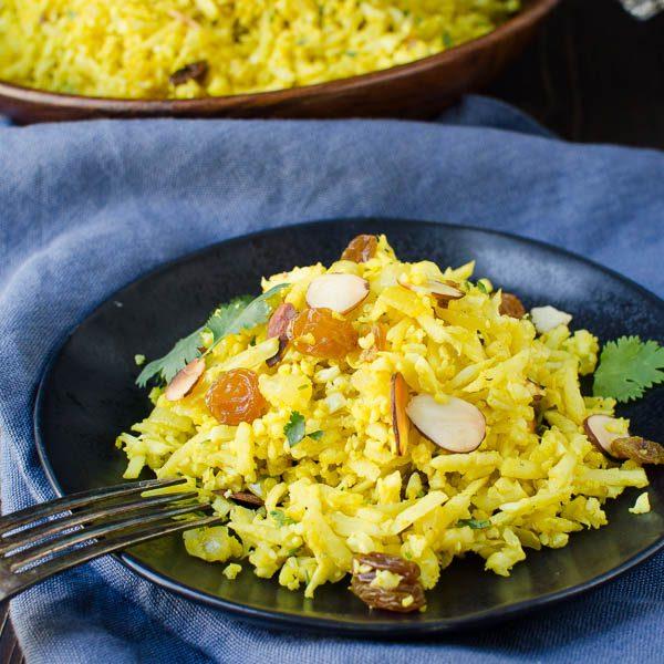 "Curried Cauliflower ""Rice"" Pilaf"