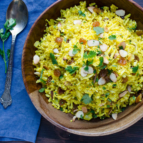"Curried Cauliflower ""Rice"" Pilaf 