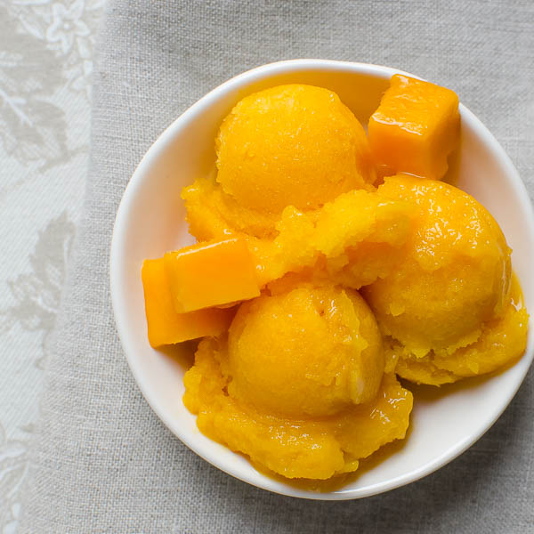 Pineapple Mango Sorbet | Garlic + Zest