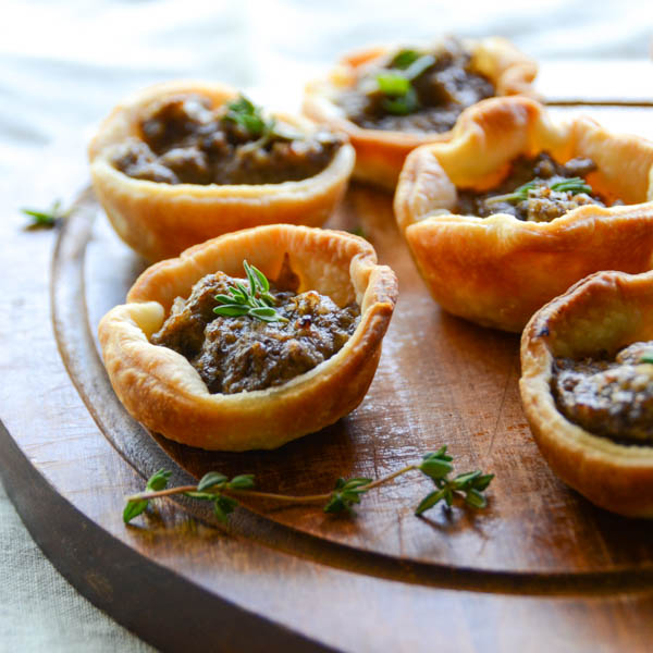 Savory Mushroom Tartlets | Garlic + Zest