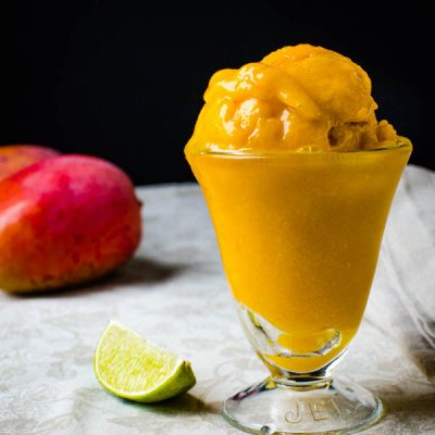 Tropical Pineapple Mango Sorbet